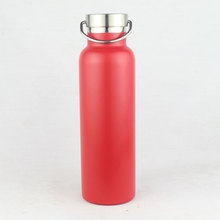 Vacuum Insulated Double Wall Stainless Steel Sports Bottle with Bamboo Lid