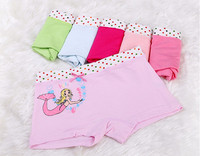 Different colors choice 3 sizes 3to12 years old Children comfortable cotton lovely cartoon girls underwear
