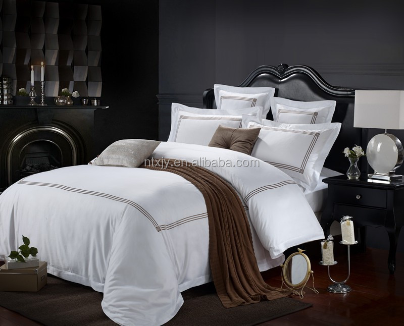 drap de lit d 39 h tel de luxe satin drap de lit planches id du produit 669204324. Black Bedroom Furniture Sets. Home Design Ideas