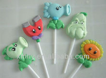 different shape gummy lollipop candy