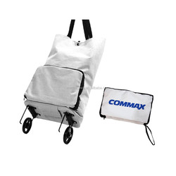 Folding shopping trolley bag with two wheels