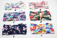 Wholesale Toddler Infant Flower Floral Bow Hairband Turban Rabbit Baby Knot Headband