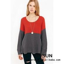 Modern colorful knit striped pullover 100 acrylic sweaters sale