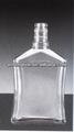 plaza de botella de cristal botella de licor