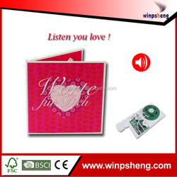 sound module greeting card /recordable sound chip greeting cards