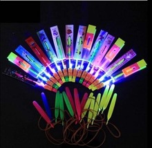 Colorful LED Light Spinning Flying Arrrow