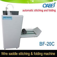 Saddle stitcher and folder machine connect digital paper collator book maker machine stitching machine post press equipment