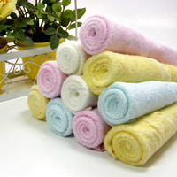 Bladies bamboo fiber white hand towel soft and comfortable square towel