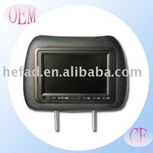 7 Inch Car Headrest Monitor with Digital HD LCD and Touch screen