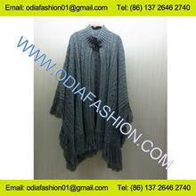 Las mujeres de moda suéter de lana/de cachemira de las mujeres poncho de moda suéter suéter