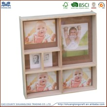 Fashion design wood baby 12 month photo frame, funny photo frames