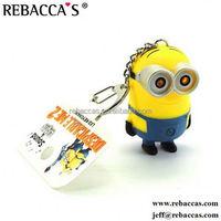plush chicken keychain/talking minion plush toy/promotional minion toy
