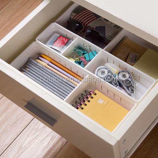 haute qualit r glable en plastique tiroir organisateur s parateur de tiroir bo te de rangement. Black Bedroom Furniture Sets. Home Design Ideas