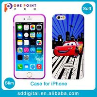 Hot sale cheap custom designer cartoon car soft tpu phone case