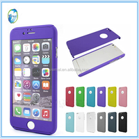 360 Degree All Cover Aluminium Alloy Matal Tempered Glass Screen Protector For Iphone 6 6plus