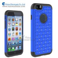 Full Star Bling Diamond Hybrid Defender case for iPhone 6
