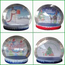 Popular big Wonderful Crystal Ball Festival Inflatable Decoration,snow globes, Inflatable Snow Globe