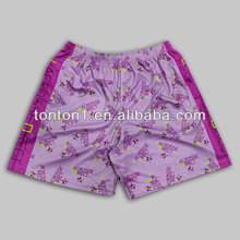 Lacrosse direct/ice hockey sublimated sportswear custom team wear shorts for girls/women
