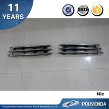 Side Vent Cover For Volkswagen Touareg 2011+ Grille Air Vent with daytime running lamp Auto Accessories From Pouvenda