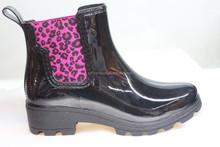 fashion clear camo rain boots for lady