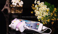 Animal Design Hello Kitty Power Bank 10000mAh Portable Battery Pack Hello Kitty 3D Cartoon Design Charge For all Mobile Phone