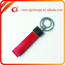 Bulk Man's Double Rings Red PU Keyrings