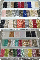 """ShiDianYi 90'' x 132"""" Large Sequin Tablecloth - Lots of colours available (Sequin Swatch Samples)"""