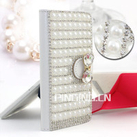Luxury full pearl skin case cover for Cherry mobile omega 4G , bling phone case for Cherry mobile omega 4G