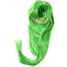 Long Straight Green high temperature fiber cosplay wig 80CM