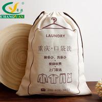 Hot Product Plain Organic Cotton 12oz canvas drawstring laundry bag