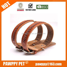 High Quality Braided Black and Brown Wholesale Soft Genuine Leather Dog Collar