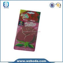 Hanging Custom Made paper car air freshener/fresh air/remove odor paper freshener