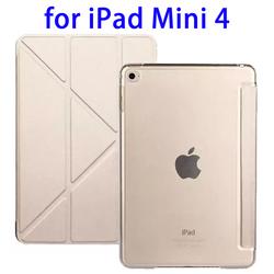 OEM Logo Branding 3 Folding Flip Leather Flip Cover for iPad Mini 4 Case