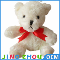 Guangdong manufacturer light up plush bear toy teddy bear with red ribbon