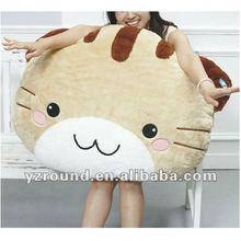 big size face cushion cat stuffed pillow