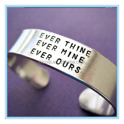 Unique Design Stainless Steel Personalized Bracelet Ever Thine Ever Mine Ever Ours Bracelet