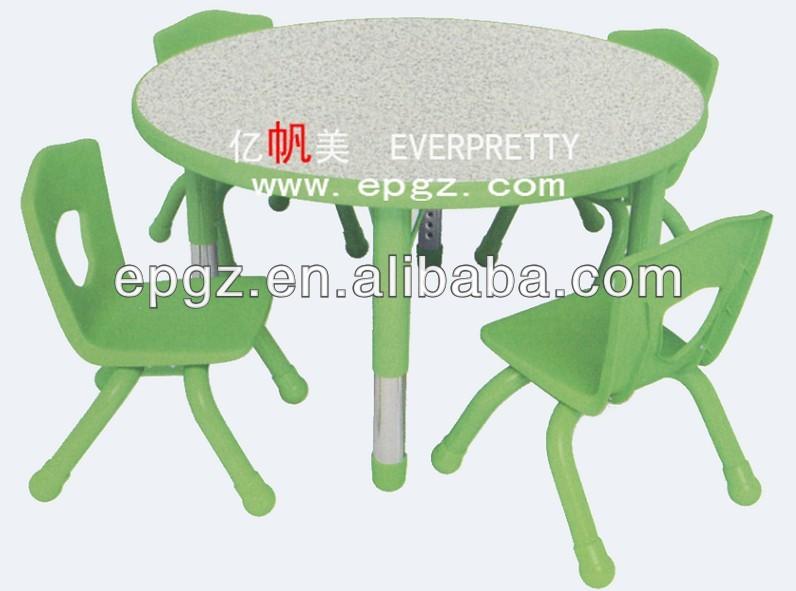 Yeşil çocuklar yuvarlak masa ve sandalye/etkinlik tablosu çocuklar için sandalye/ayarlanabilir masa sandalye okulöncesi