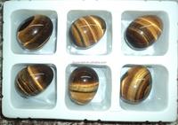 wholesale semi precious stone eggs 38x50mm/gemstone eggs/tiger eye stone eggs