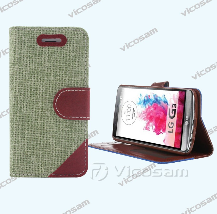 Business Style hot sale factory price pu leather case for lg g3