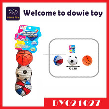 2015 New Custom Outdoor Hot Selling Promotion Crazy Ball Toy Pet Toy Rubber Ball 2 In 1 Basketball And Football Toy For Kids