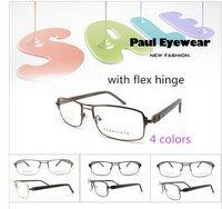 2015 hotsell women men metal frame pinhole glasses with spring hinge
