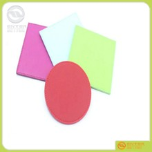 PU coaster for tea or sundries/Promotional square shape PU leather coaster with brand printed