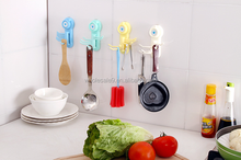 Power suction cup with plastic hook in the kitchen