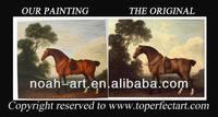 Handmade wild horses oil painting for home decor