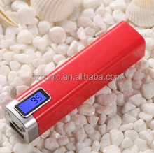 2014 best selling 2600mah Gift power bank with Digital Display by LCD screen and LED Torch Light
