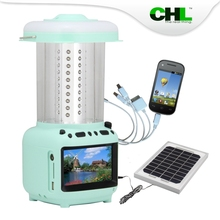 2015 new CHL solar lamps for home with tv, cell phone charger and fm radio