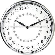 Plástico 24 horas relojes de pared del dormitorio