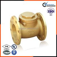 brass swing check valve price flanged sewage check valve