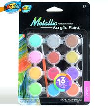 Intelligent 12*5ml Non-toxic Wholesale Acrylic Paint Sets Cheap Portable Kids&Artists A0101