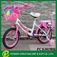 New design 18 inch pink child bike plastic tricycle kids bike made in China